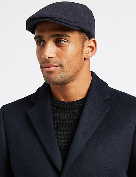 47bfbbeb3cc Wool Blend Flat Cap with Stormwear trade