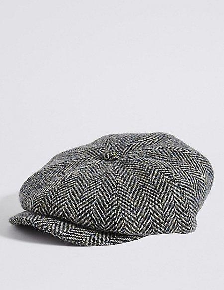 Pure Wool Baker Boy Hat  603c3c70cd4