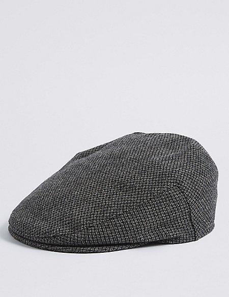 Wool Blend Thinsulate™ Flat Cap with Stormwear™