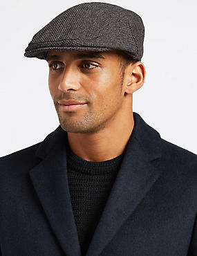 Wool Blend Thinsulate™ Flat Cap with Stormwear™