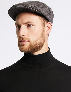 Micro Dobby Design Flat Cap