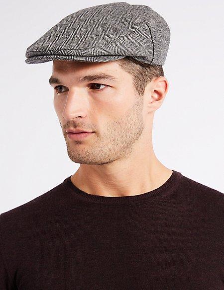 Pure Wool Flat Cap with Stormwear™