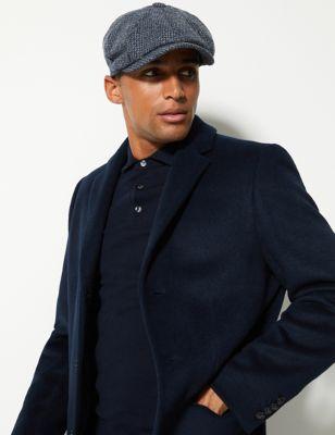 Pure Wool Baker Boy Cap Stormwear™ by Marks & Spencer