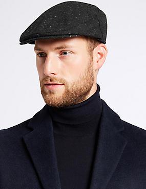 Wool Blend Flat Cap