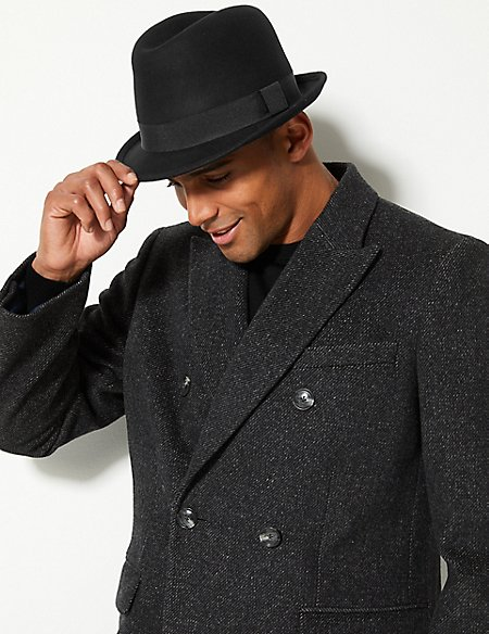 Pure Wool Trilby Hat with Stormwear™