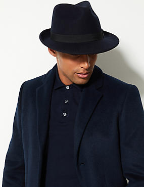 Pure Wool Felt Trilby Hat