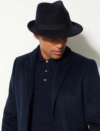 bc1a55ff Pure Wool Felt Trilby Hat with Stormwear™ | Marks & Spencer London