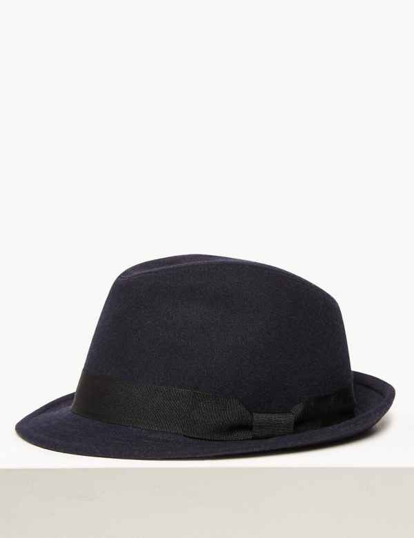 bcd549a5 Trilby Hat with Wool. New. M&S Collection