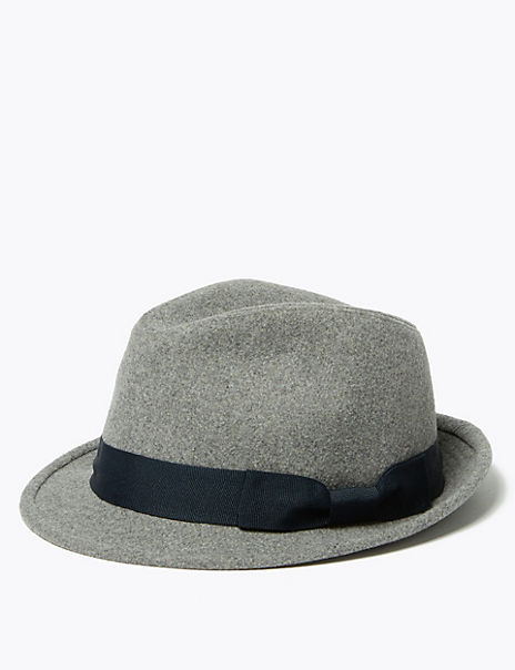 Trilby Hat with Wool
