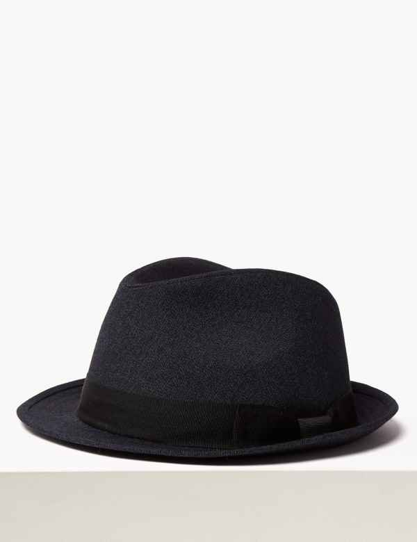 6f388e5c0f5 Cotton Textured Trilby