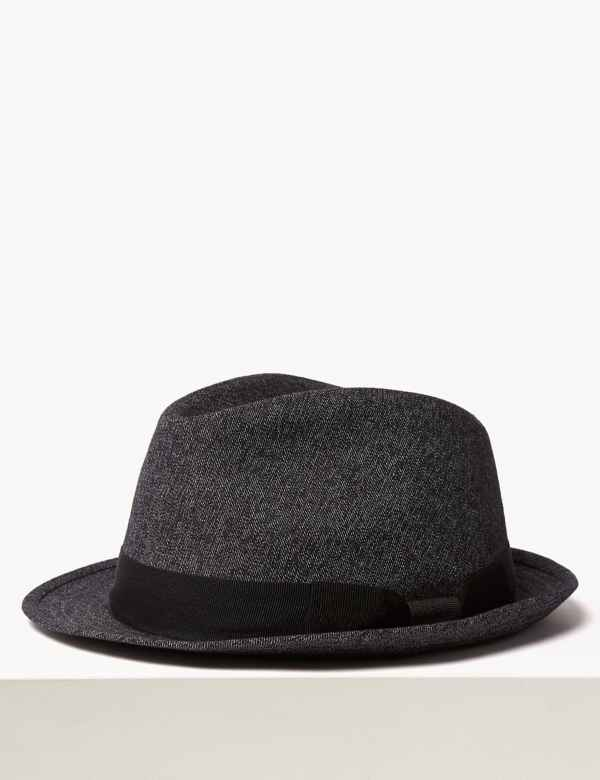 0aab8f00 Cotton Textured Trilby. New. M&S Collection
