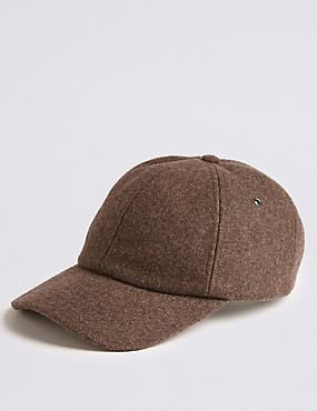 Baseball Cap with Wool