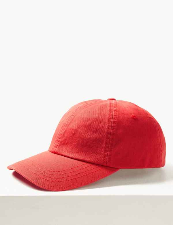 e4990a803df57 Pure Cotton Baseball Cap. M S Collection