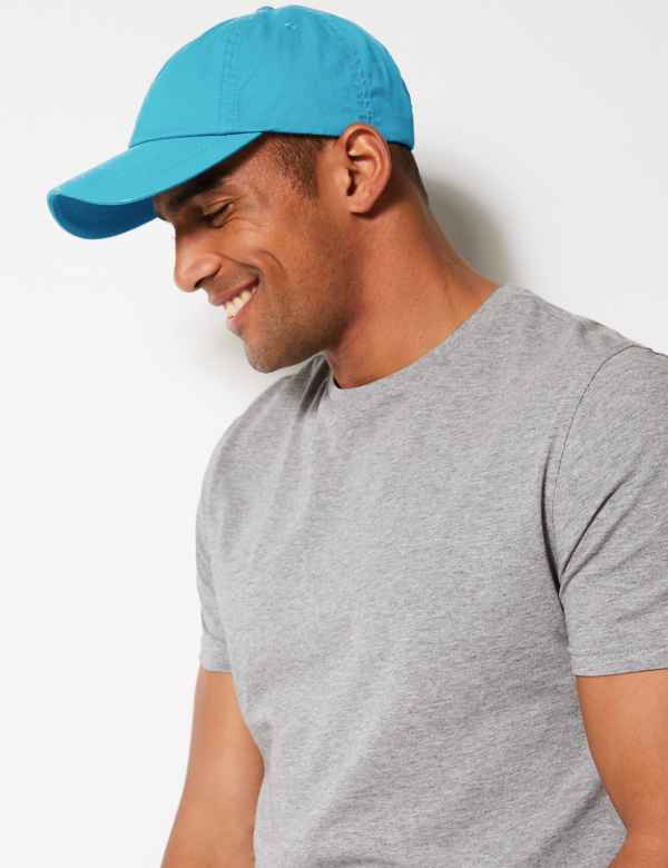 a4a0a8b5 Pure Cotton Baseball Cap. M&S Collection