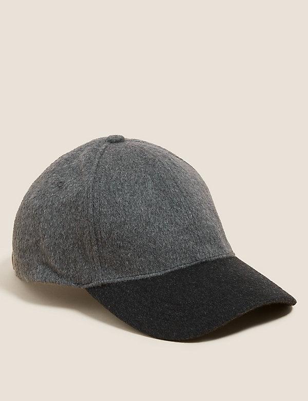 Wool Colour Block Baseball Cap
