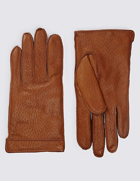 Textured Leather Gloves with Thinsulate™