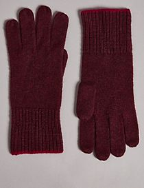 Pure Cashmere Knitted Gloves