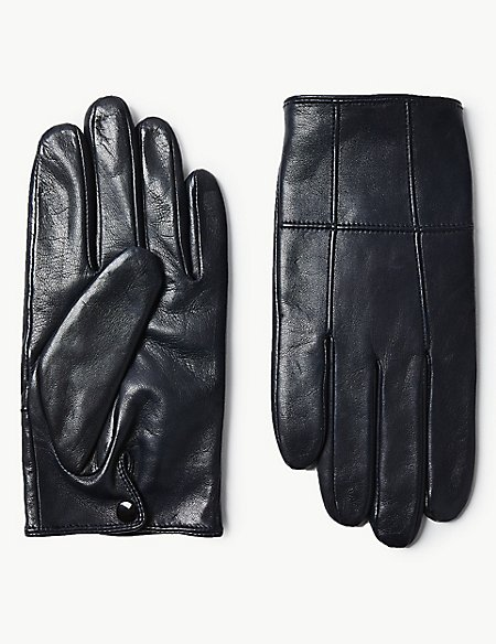Leather Panelled Driving Gloves