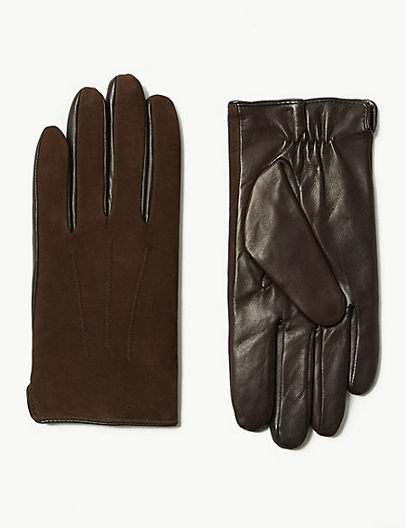 Leather Gloves with Cashmere
