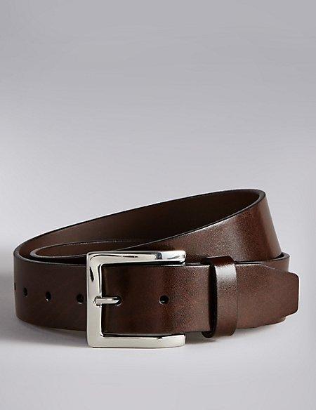 Coated Leather Notched Belt