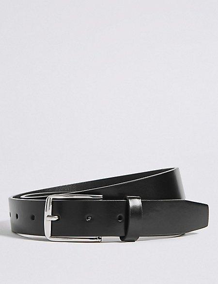 Rectangular Buckle Formal Belt