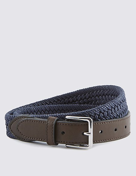 Pure Cotton Plaited Web Belt