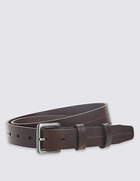 3cm Double Keeper Leather Belt