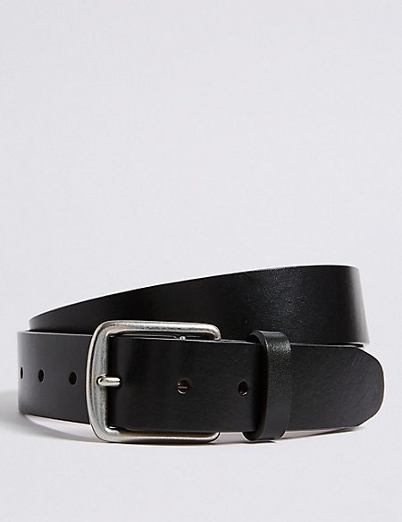 Leather Saddle Edge Casual Belt