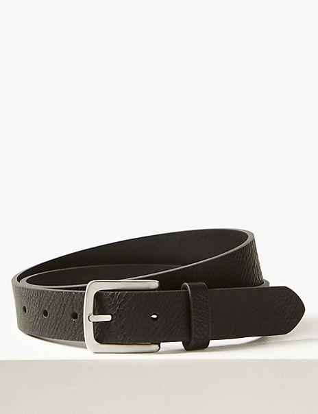 Rectangular Buckle Casual Belt