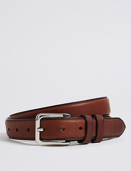 Leather Double Keeper Chino Belt