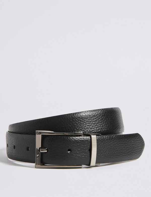 c06b8f480c88 Coated Leather Textured Reversible Belt