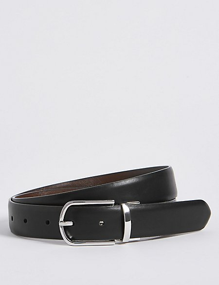 Oval Buckle Reversible Belt