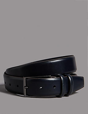 Leather Rectangular Buckle Smart Belt