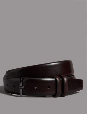Leather Rectangular Buckle Smart Belt by Marks & Spencer