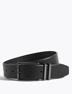 Leather Double Metal Keeper Smart Belt