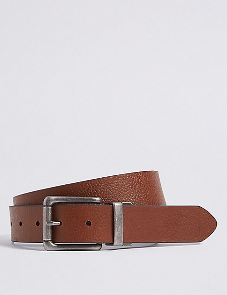 Coated Leather Reversible Belt