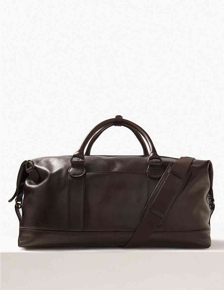 Casual Leather Holdall  69e3d7c740b21