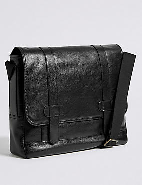 Casual Leather Messenger
