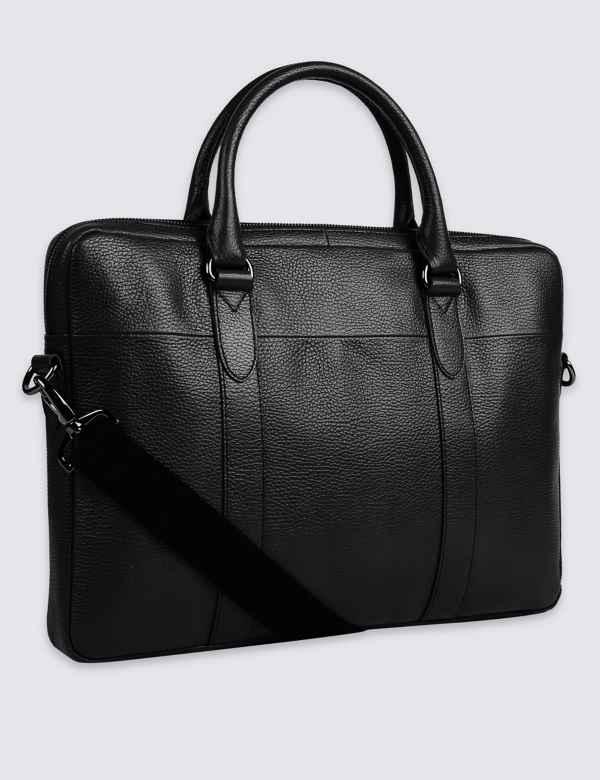Pebble Grain Leather Briefcase 8ee88e911e40f