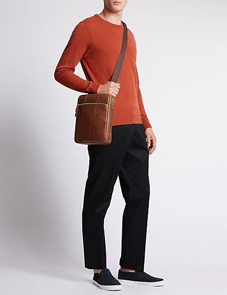 Pebble Grain Leather Cross Body Bag