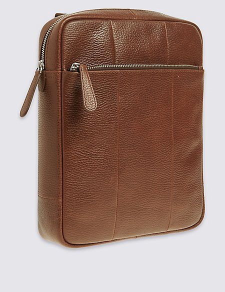 Pebble Grain Leather Cross Body Bag