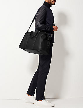 Textured Saffiano Holdall