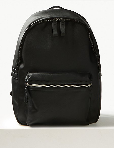 Textured Saffiano Backpack