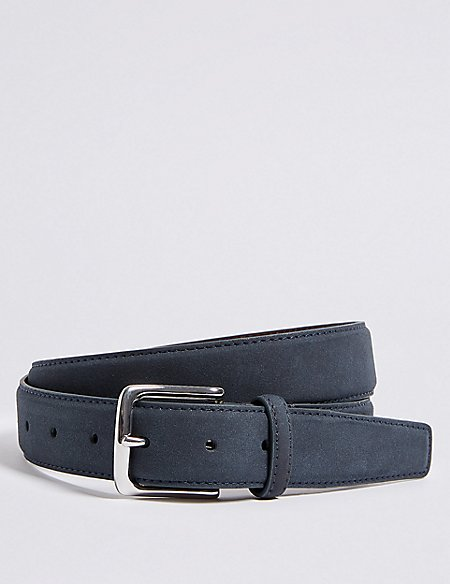 Faux Suede Feather Edge Casual Belt
