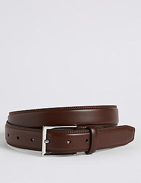 High Shine Leather Buckle Belt