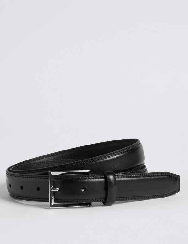 High Shine Leather Buckle Belt ea1eccba57