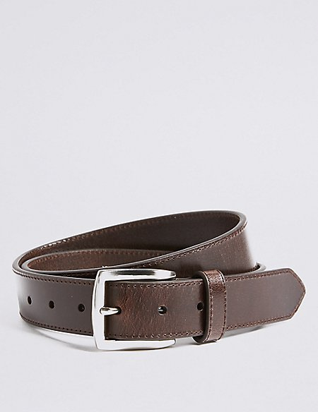 Leather Rectangular Buckle Casual Belt