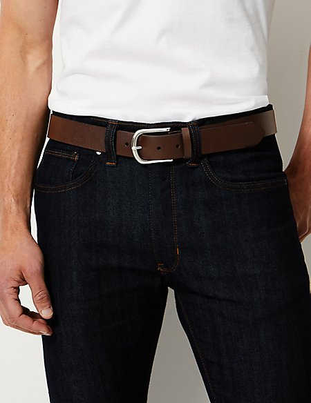 Leather Buckle Casual Belt