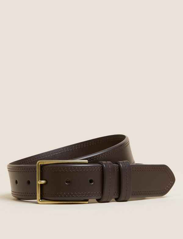 b1e5e2dc2 Leather Stitch Detail Casual Belt