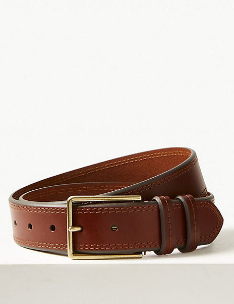 Leather Stitch Detail Casual Belt